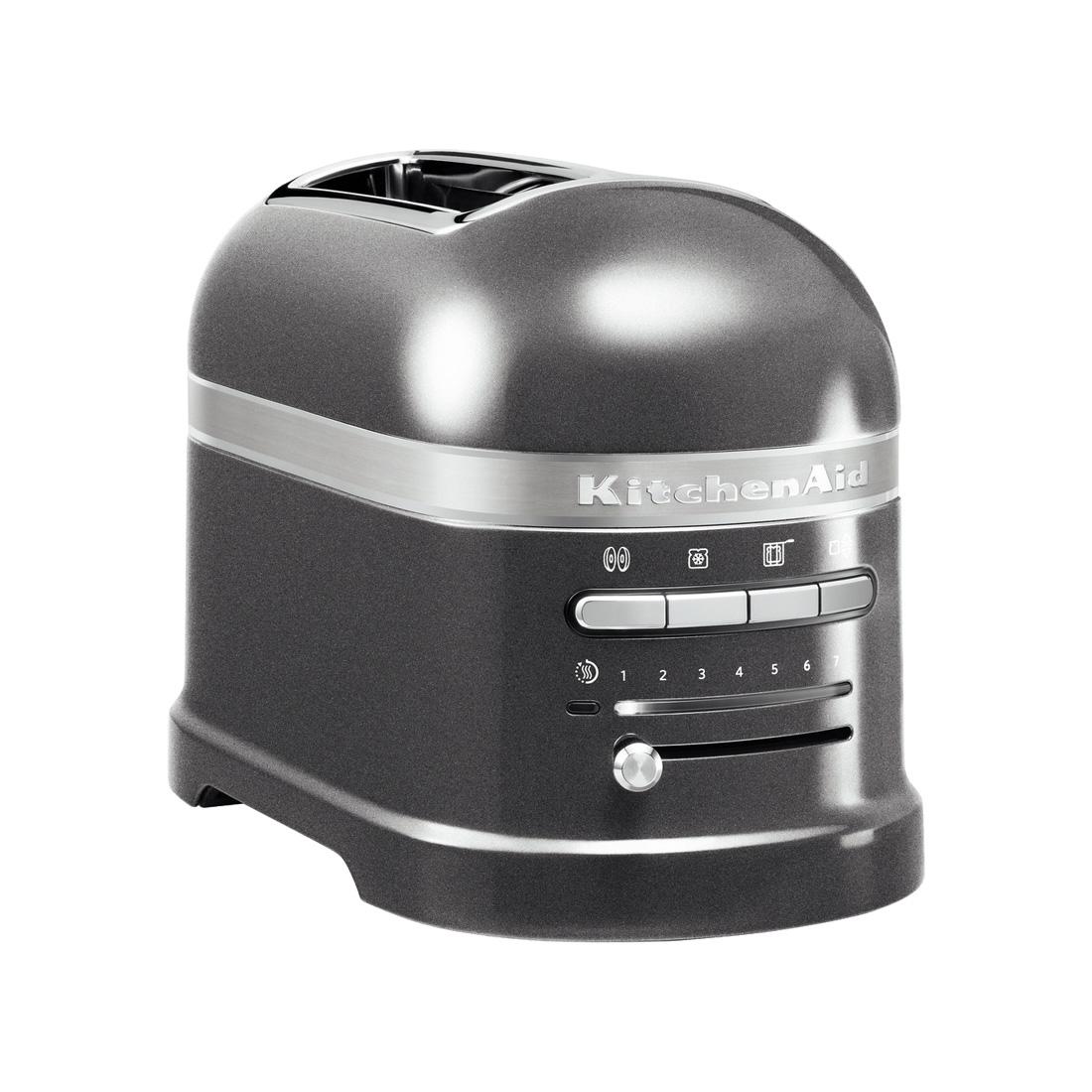 kitchenAid Artisan 2 Slot Toaster Medallion Silver