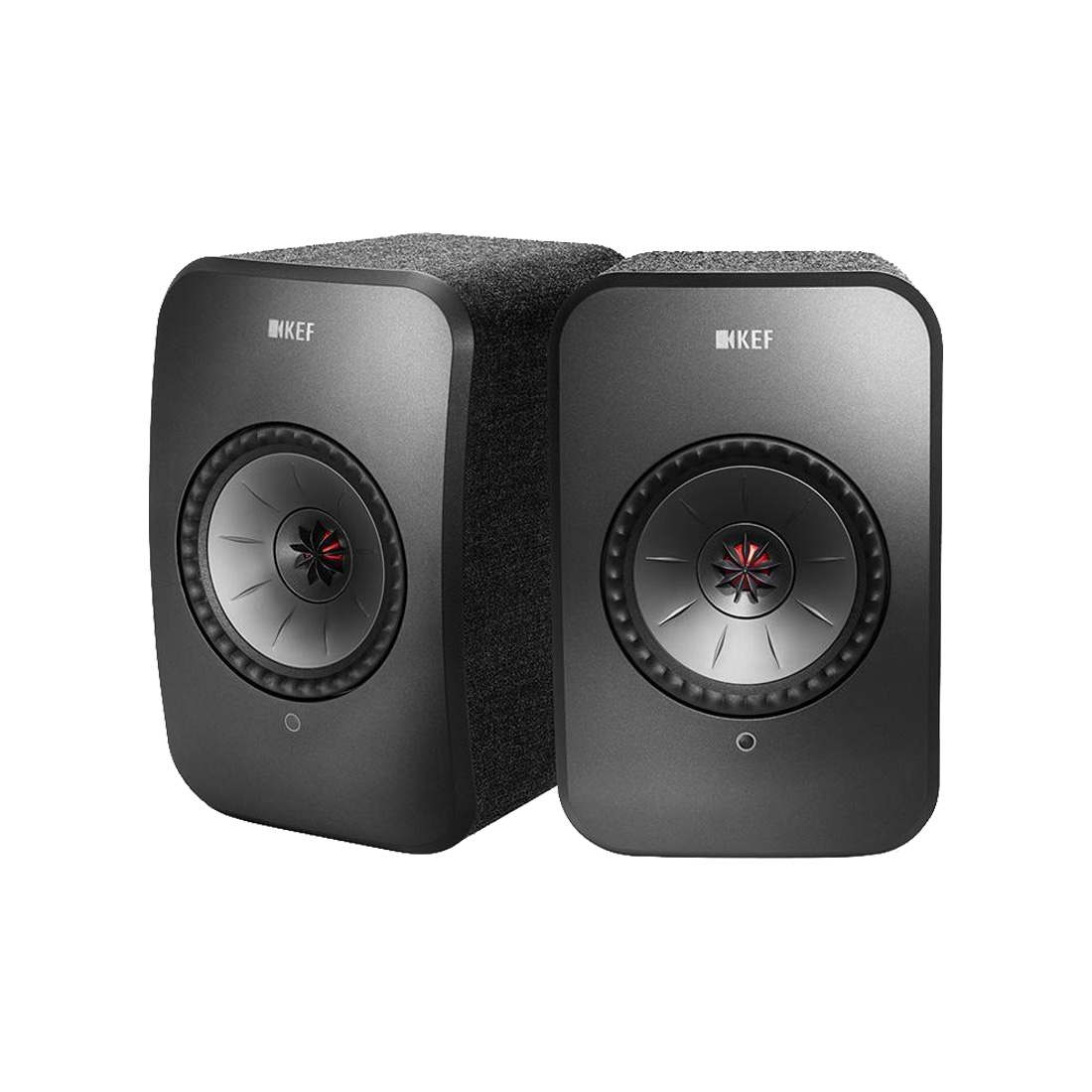 KEF LSX Wireless Bookshelf Speakers - Black